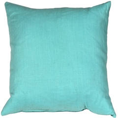 Tuscany Linen Turquoise 17x17 Throw Pillow