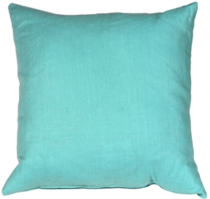Tuscany Linen Turquoise 20x20 Throw Pillow