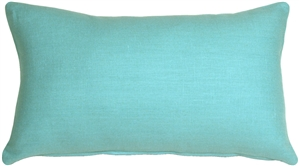 Tuscany Linen Turquoise 12x20 Throw Pillow