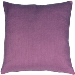 Tuscany Linen Purple 17x17 Throw Pillow