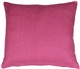 Tuscany Linen Orchid Pink 17x17 Throw Pillow