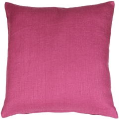 Tuscany Linen Orchid Pink 20x20 Throw Pillow
