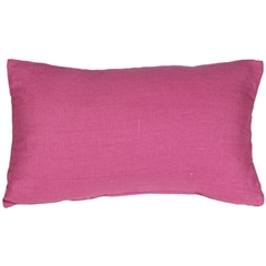 Tuscany Linen Orchid Pink 12x20 Throw Pillow