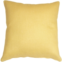 Tuscany Linen Banana Yellow 17x17 Throw Pillow