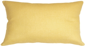 Tuscany Linen Banana Yellow 12x20 Throw Pillow