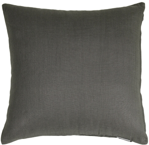 Tuscany Linen Elephant Gray 17x17 Throw Pillow