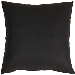 Tuscany Linen Black 17x17 Throw Pillow