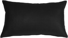 Tuscany Linen Black 12x20 Throw Pillow