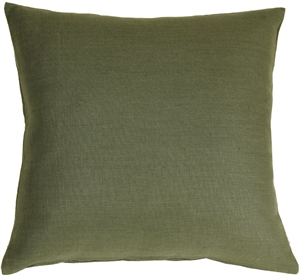 Tuscany Linen Fig Green 17x17 Throw Pillow