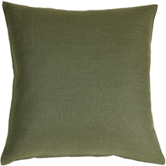Tuscany Linen Fig Green 20x20 Throw Pillow