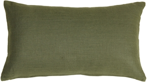 Tuscany Linen Fig Green 12x20 Throw Pillow