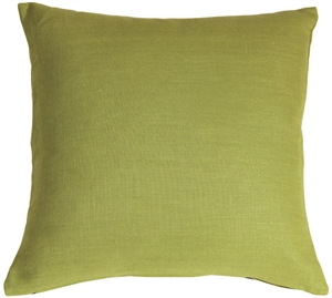 Tuscany Linen Apple Green 17x17 Throw Pillow