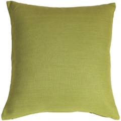 Tuscany Linen Apple Green 20x20 Throw Pillow