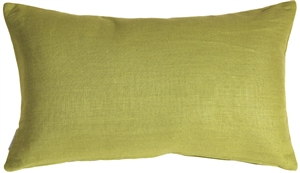 Tuscany Linen Apple Green 12x20 Throw Pillow
