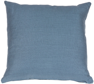Tuscany Linen Wedgewood Blue 17x17 Throw Pillow