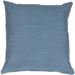 Tuscany Linen Wedgewood Blue 20x20 Throw Pillow