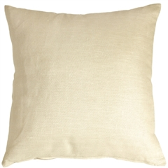 Tuscany Linen Cream 17x17 Throw Pillow