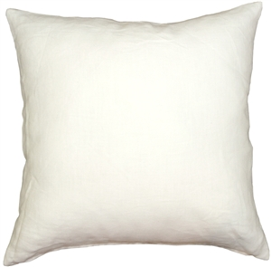 Tuscany Linen White 17x17 Throw Pillow