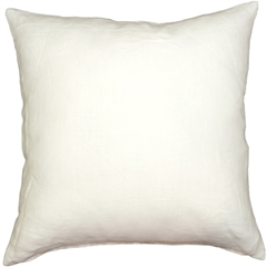 Tuscany Linen White 20x20 Throw Pillow