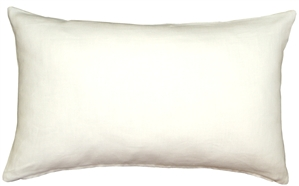 Tuscany Linen White 12x20 Throw Pillow