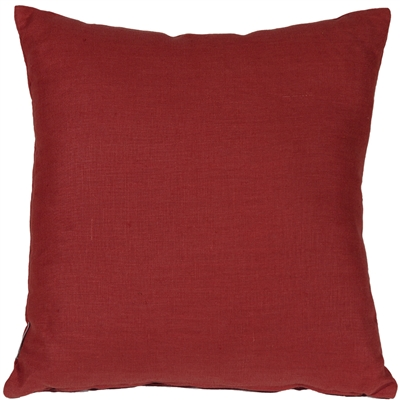 Tuscany Linen Red 17x17 Throw Pillow