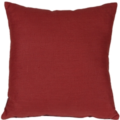 Tuscany Linen Red 20x20 Throw Pillow