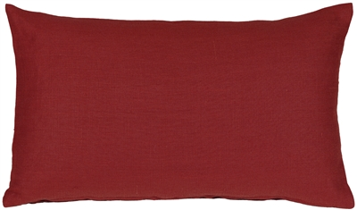 Tuscany Linen Red 12x20 Throw Pillow