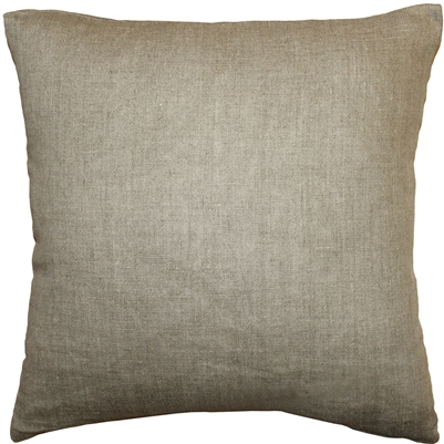 Tuscany Linen Natural 17x17 Throw Pillow