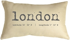 London Coordinates 12x20 Throw Pillow