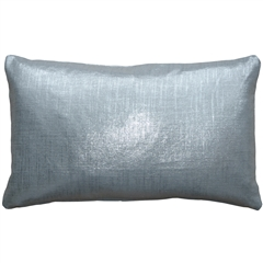 Tuscany Linen Silver Metallic 12x20 Throw Pillow