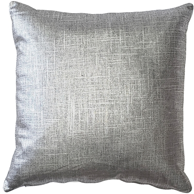 Tuscany Linen Platinum Metallic 16x16 Throw Pillow