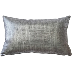 Tuscany Linen Platinum metallic 12x20 Throw Pillow