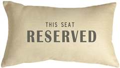 This Seat Reserved 12x20 Throw Pillow