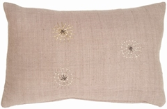Gray Couched Starburst III Motif Pillow
