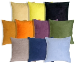 19x19 Royal Suede Throw Pillows