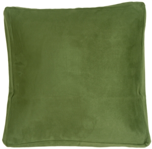 16x16 Box Edge Royal Suede Forest Green Throw Pillow