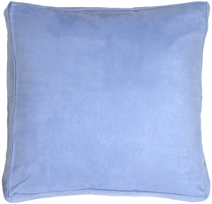 16x16 Box Edge Royal Suede Pale Blue Throw Pillow