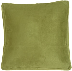 16x16 Box Edge Royal Suede Sage Green Throw Pillow