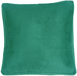 16x16 Box Edge Royal Suede Turquoise Throw Pillow