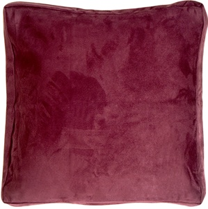 16x16 Box Edge Royal Suede Wine Throw Pillow