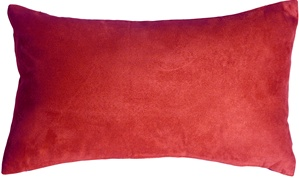 12x20 Royal Suede Red Throw Pillow