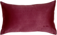 12x20 Royal Suede Wine Throw Pillow