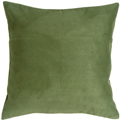 18x18 Royal Suede Forest Green Throw Pillow