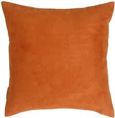 18x18 Royal Suede Burnt Orange Throw Pillow