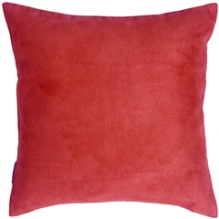18x18 Royal Suede Red Throw Pillow