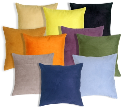 18x18 Royal Suede Throw Pillows
