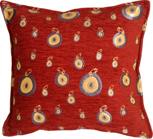 Blue Target 17x17 Throw Pillow