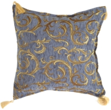Damask Blue Decorative Throw Pillow