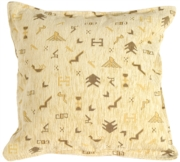 Tribal Yellow Decorative Throw Pillow