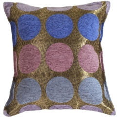 Multicolor Spheres Blue Decorative Throw Pillow